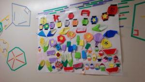 【プラザに子どもたちの作品が飾られています!】